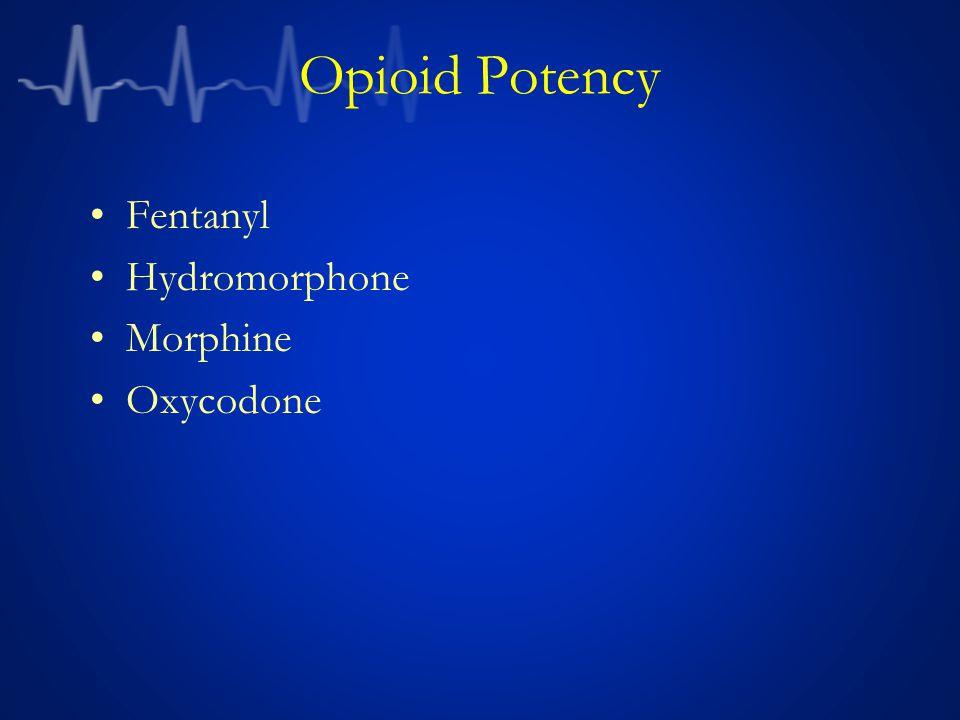 Opioid Potency Fentanyl Hydromorphone Morphine Oxycodone