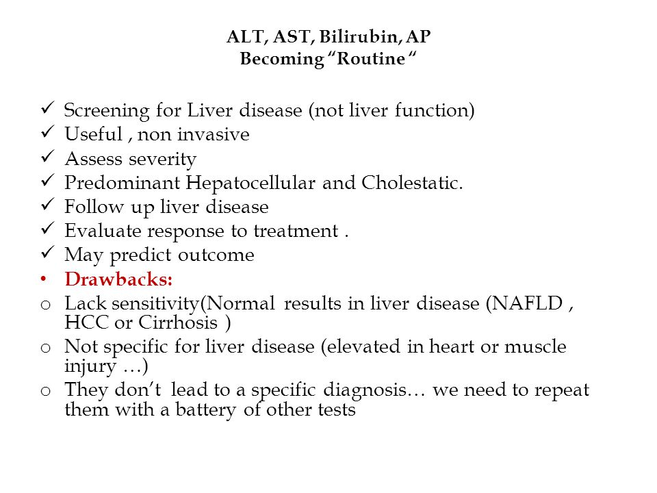 Abnormal Liver Function Tests !.