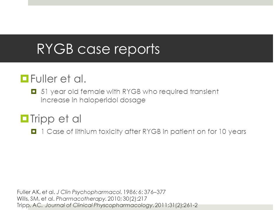 RYGB case reports  Fuller et al.