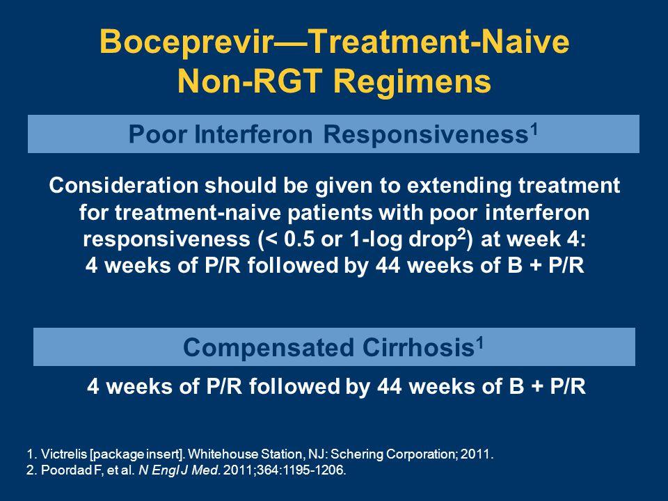 Boceprevir—Treatment-Naive Non-RGT Regimens 1. Victrelis [package insert].
