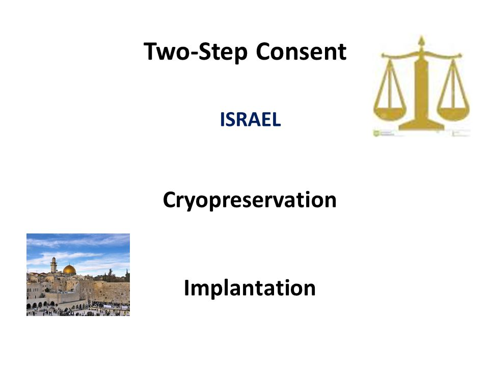 Two-Step Consent ISRAEL Cryopreservation Implantation