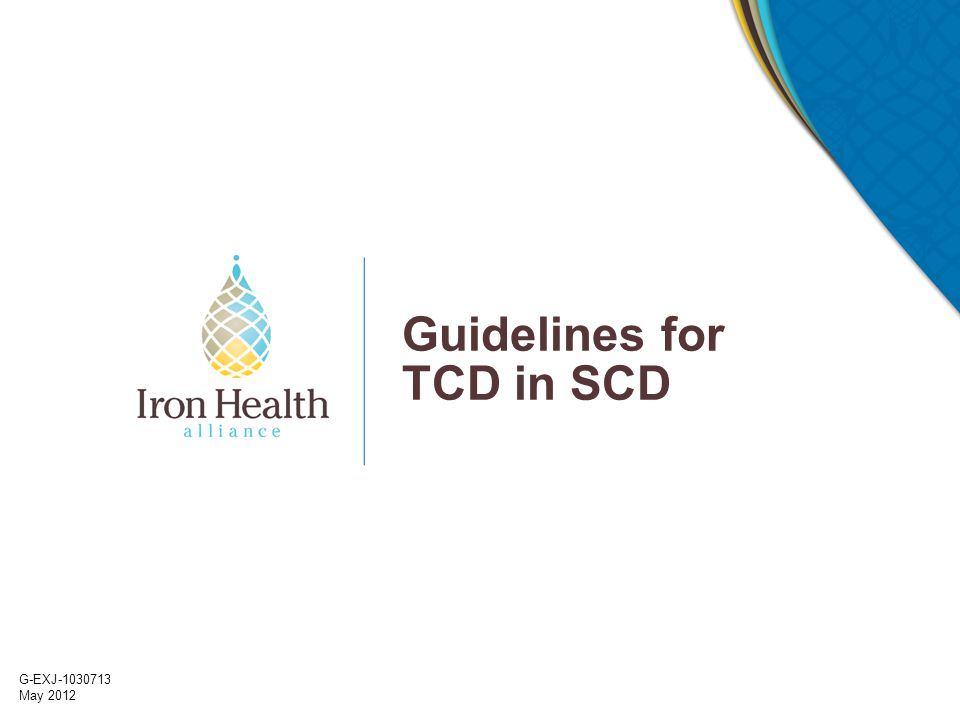 G-EXJ-1030713 May 2012 Guidelines for TCD in SCD