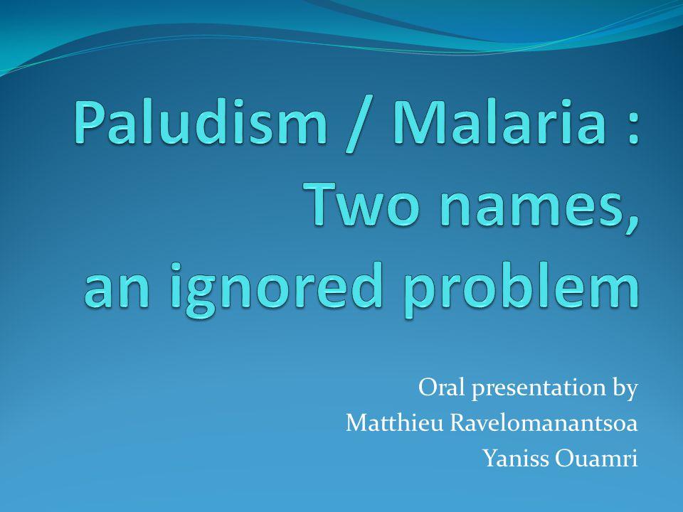 Oral presentation by Matthieu Ravelomanantsoa Yaniss Ouamri