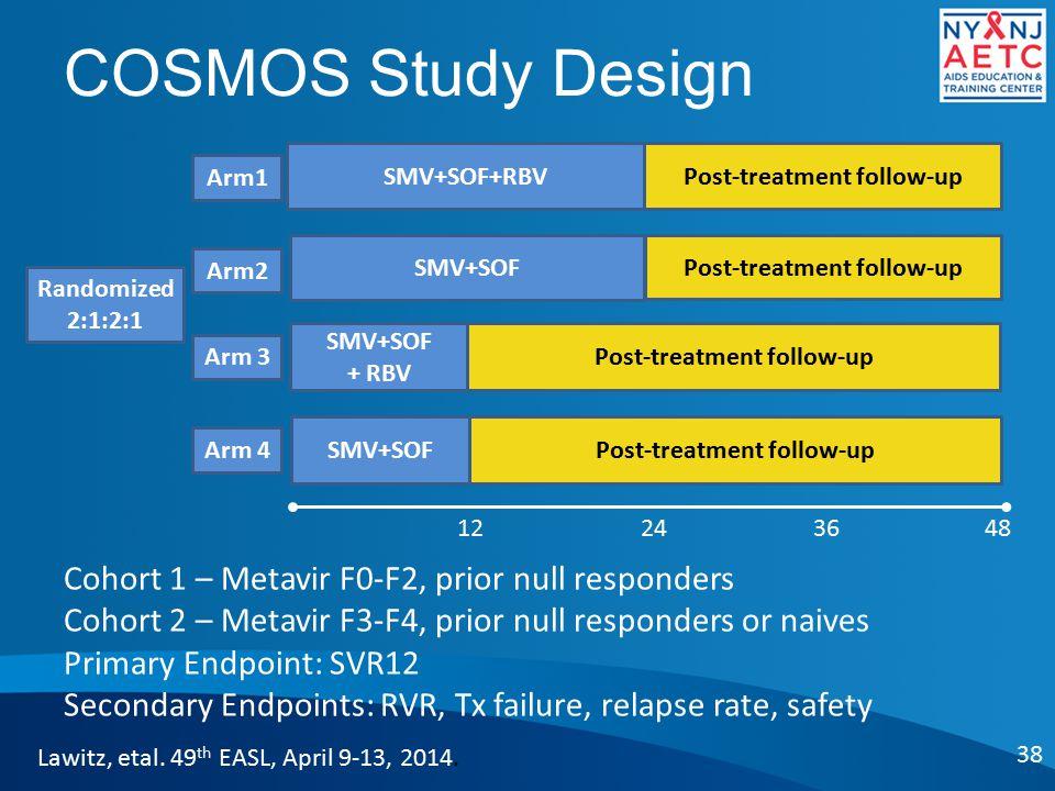 COSMOS Study Design 38 Lawitz, etal.49 th EASL, April 9-13, 2014.