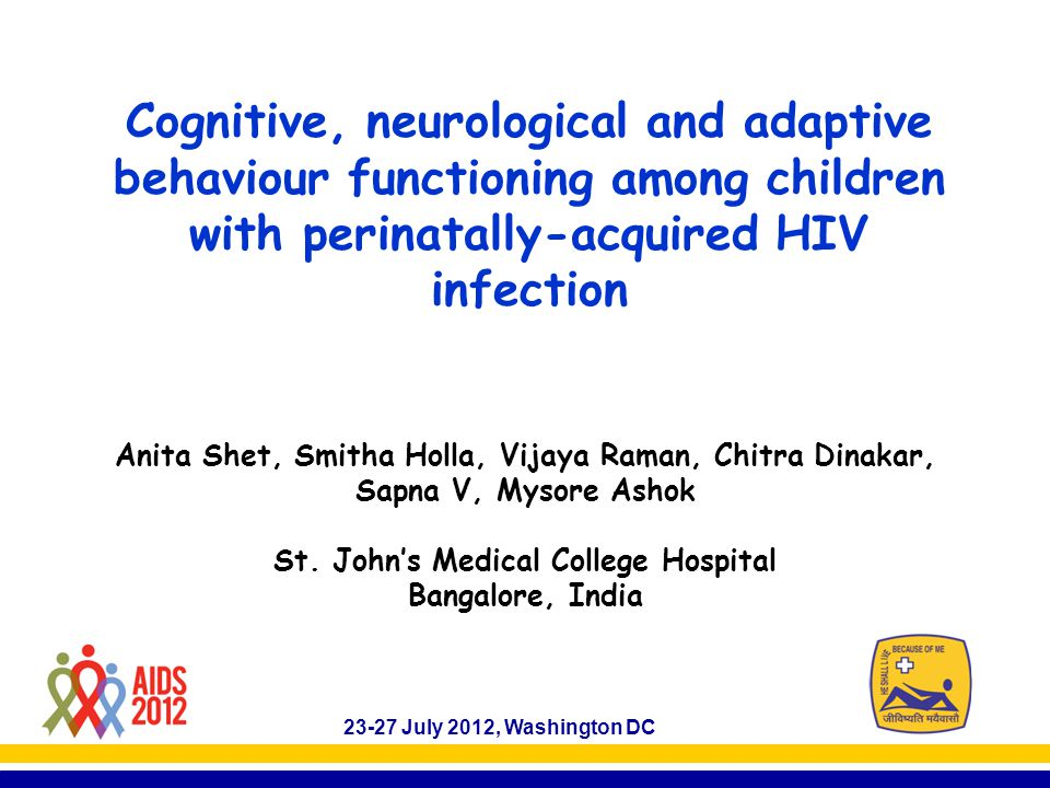 Adaptive behaviour (VAB) VAB Score HIV Positive (82) HIV Negative (85) p Total score94 ± 1095 ± 130.6 Agens Males vs Femalesns Orphans96 ± 989 ± 100.008 Non-orphans94 ± 1099 ± 130.01  Adaptive behaviour scores were similar for both HIV-infected and uninfected children – at all ages, and both in males and females.