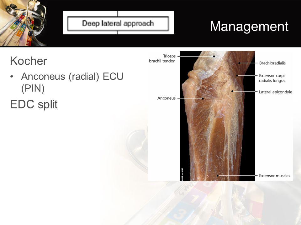 Management Kocher Anconeus (radial) ECU (PIN) EDC split