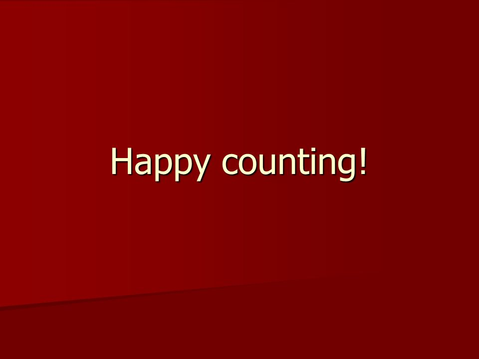 Happy counting!