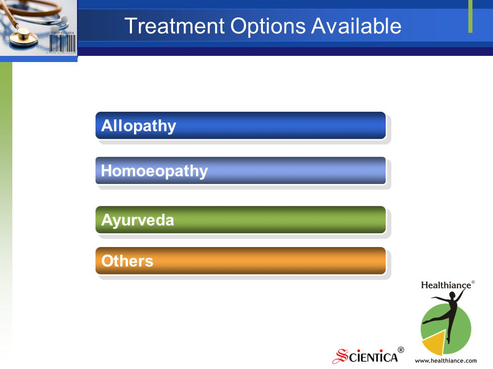 Treatment Options Available Allopathy Homoeopathy Ayurveda Others