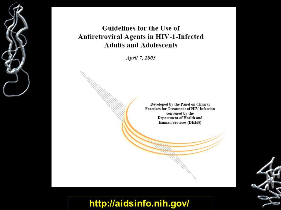 Antiretrovirals Regimens to Avoid Hard gel saquinavir (Invirase) as the sole PI: inadequate drug levels Zidovudine + stavudine: antagonistic in vitro and in vivo Didanosine + tenofovir?: blunted CD4 increase