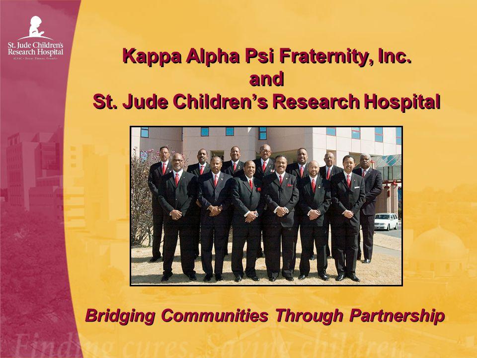 Kappa Alpha Psi Fraternity, Inc. and St. Jude Children's Research Hospital Bridging Communities Through Partnership