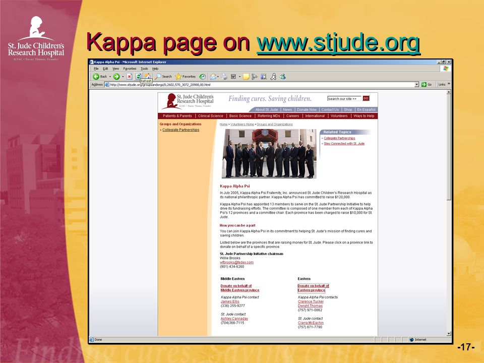 -17- Kappa page on www.stjude.orgwww.stjude.org Kappa page on www.stjude.orgwww.stjude.org
