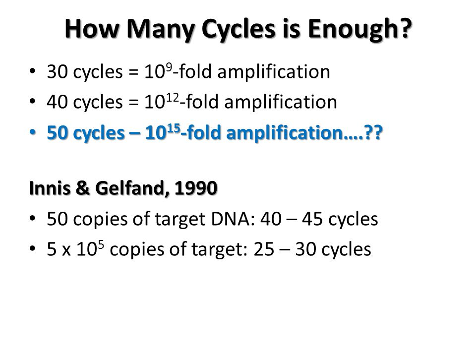 How Many Cycles is Enough.