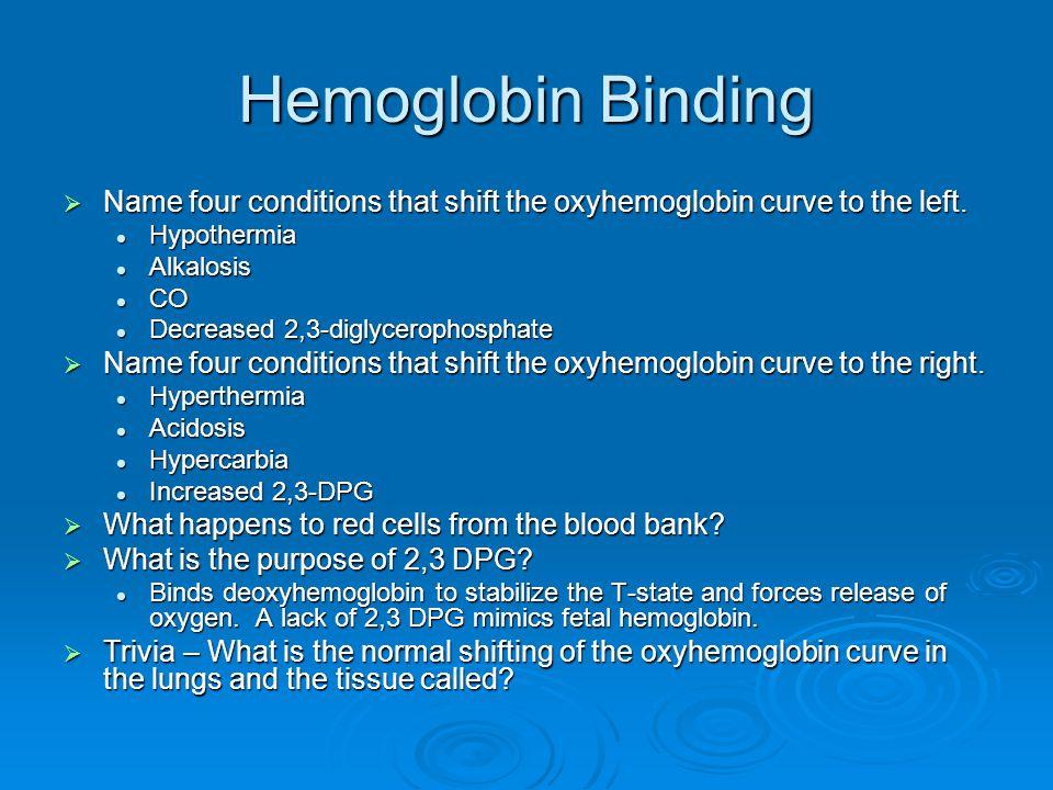 Oxygen Equations  1 gm of hemoglobin binds 1.34 mL of O 2.