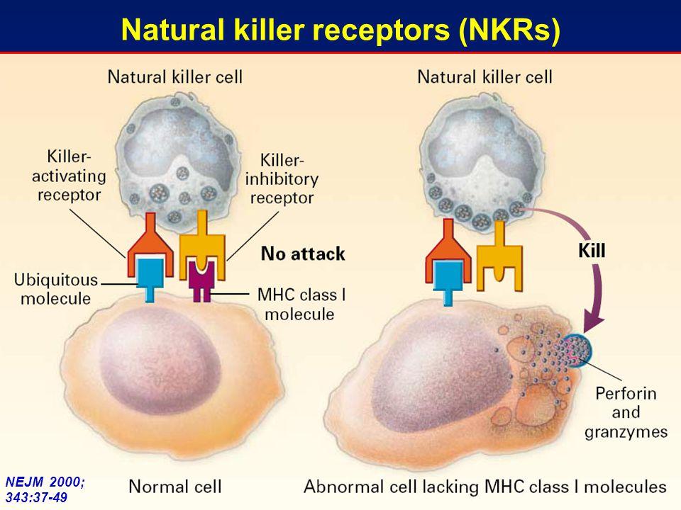 NEJM 2000; 343:37-49 Natural killer receptors (NKRs)