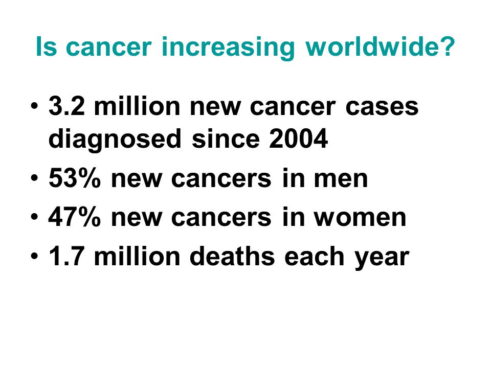How is cancer managed? 1.Primary prevention 2.Screening 3.Treatment 4.Palliative care