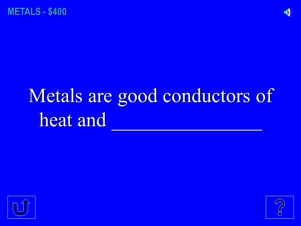 METALS - $300 This metal is essential in preventing anemia
