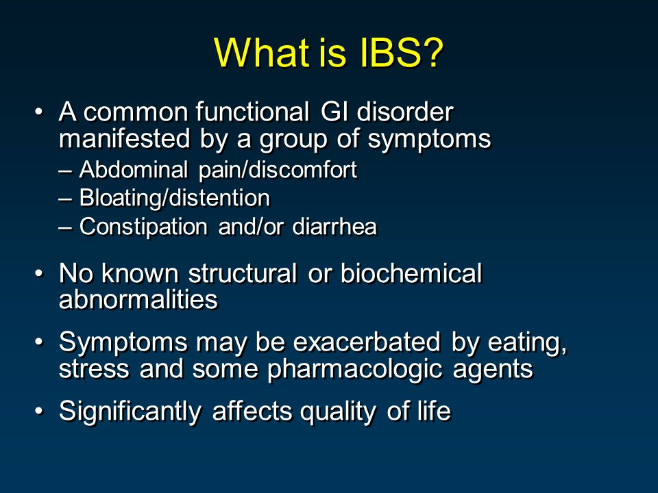 What is IBS.