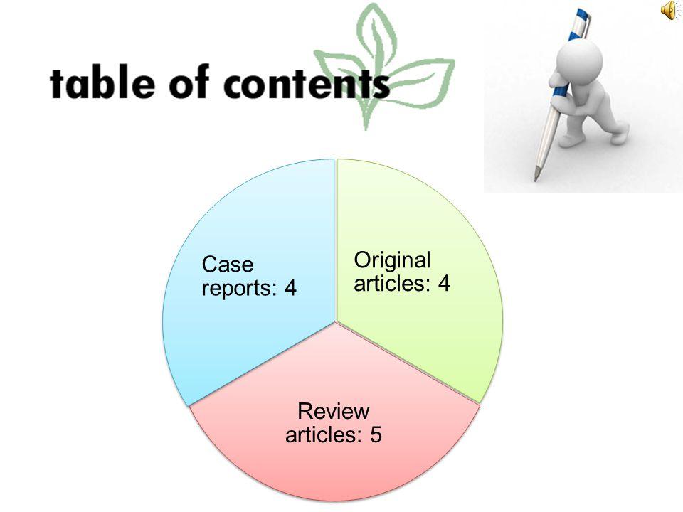 Original articles: 4 Review articles: 5 Case reports: 4