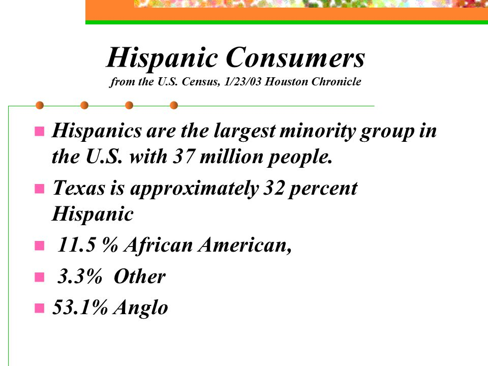 Hispanic Consumers from the U.S.