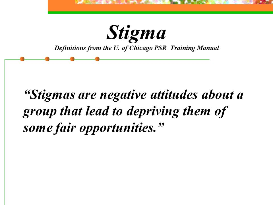 Stigma Definitions from the U.