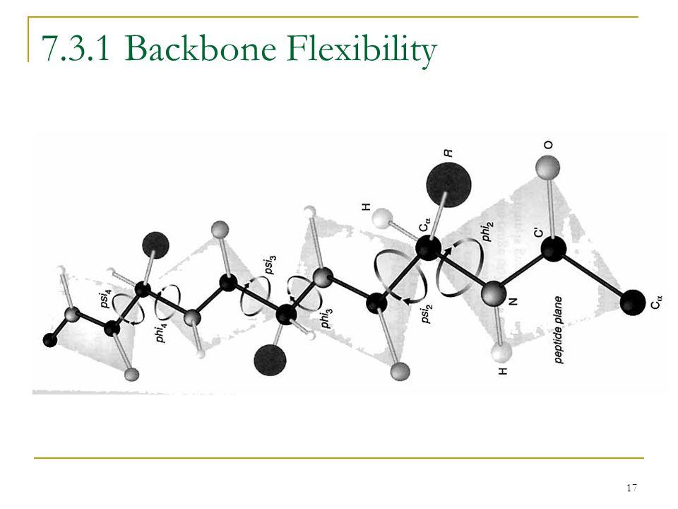 17 7.3.1 Backbone Flexibility