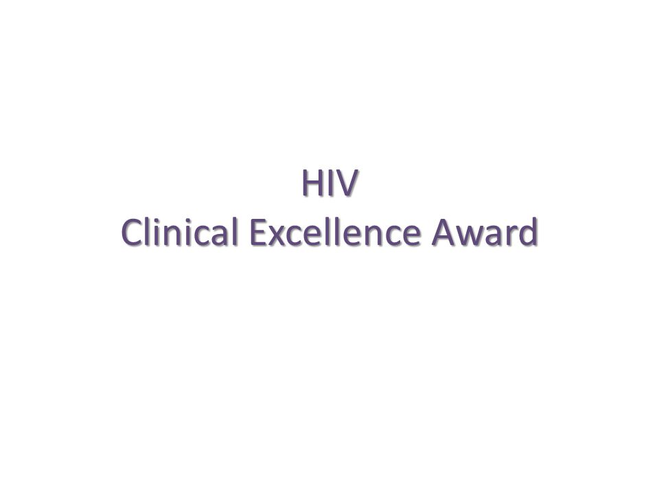 HIV Clinical Excellence Award
