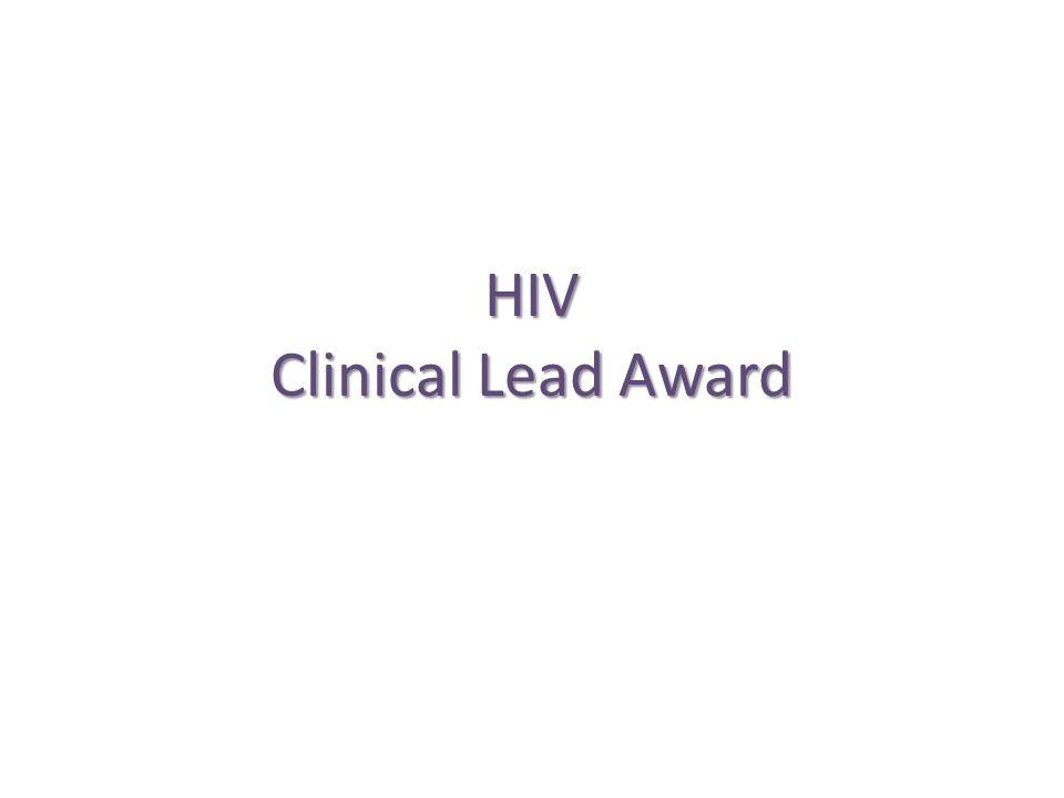 HIV Clinical Lead Award