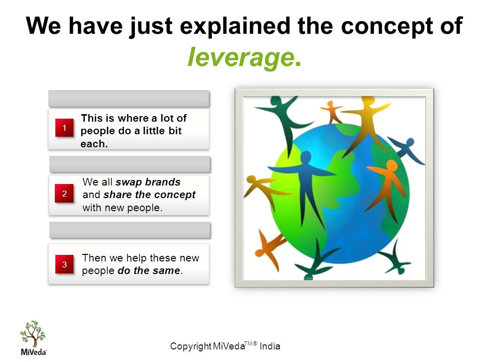 Copyright MiVeda India TM ® We have just explained the concept of leverage.