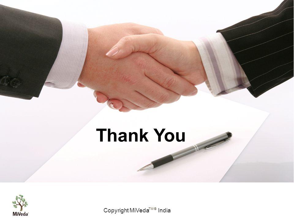 Copyright MiVeda India TM ® Thank You