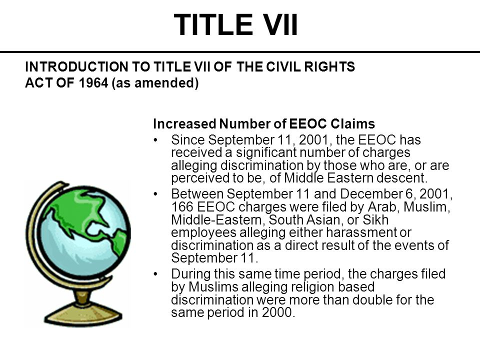 TITLE VII Pre-Employment Inquiries Requesting pre-employment information which discloses or tends to disclose an applicant s race suggests that race will be unlawfully used as a basis for hiring.