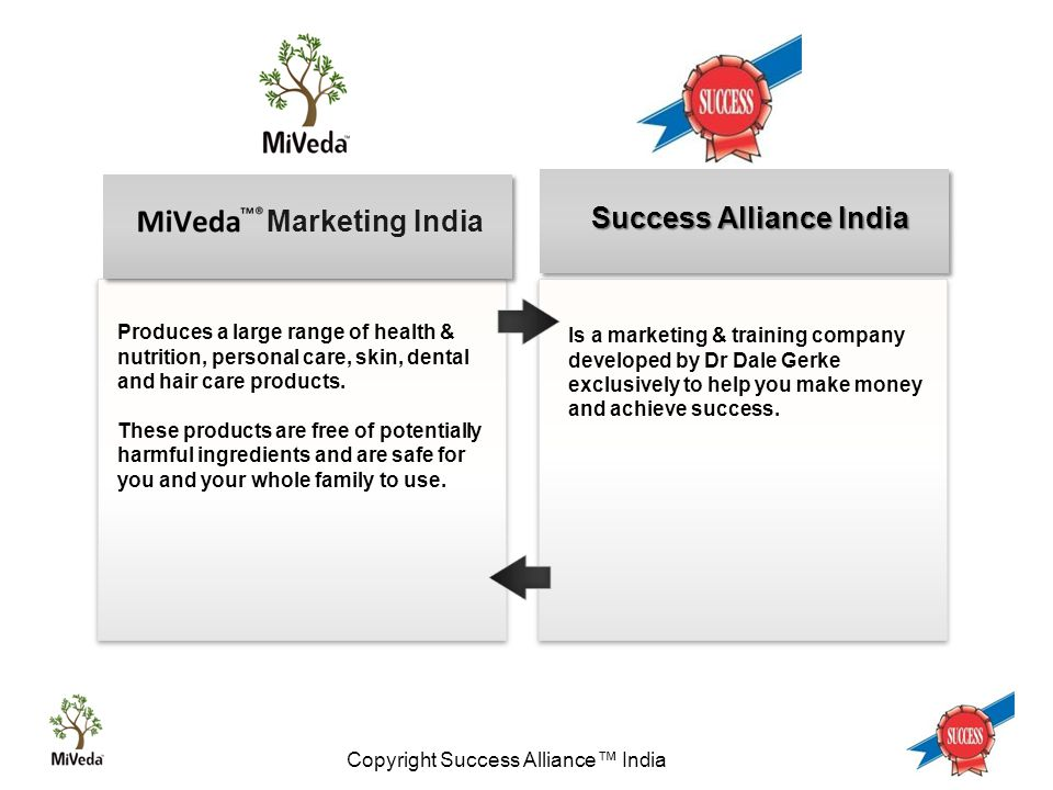 Copyright Success Alliance™ India Aids the maintenance of general wellbeing Aids the maintenance of general wellbeing Reduces the chance of Anemia and Osteoporosis for all users.
