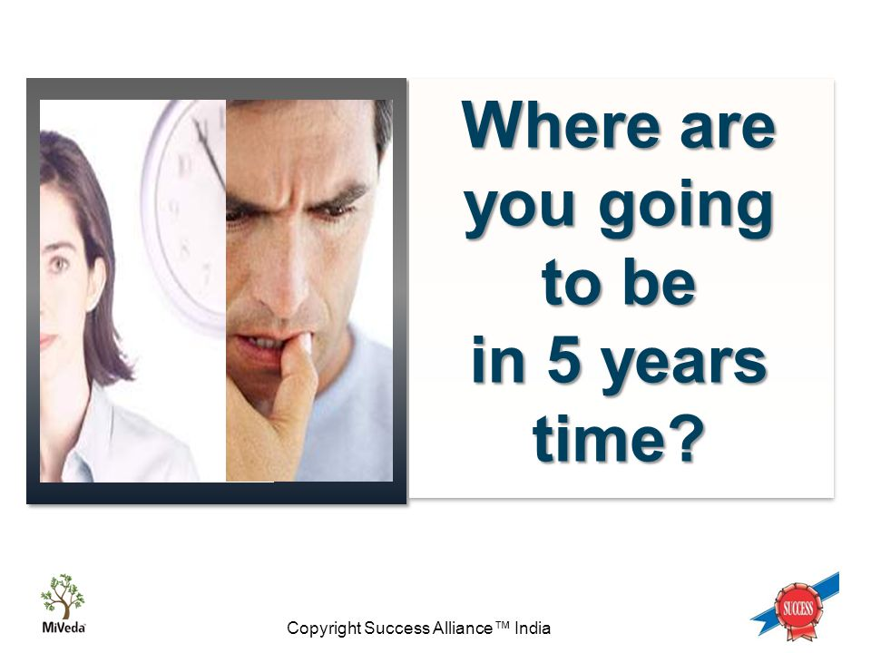 Copyright Success Alliance™ India Ask yourself these questions… Are you living the life you really want.