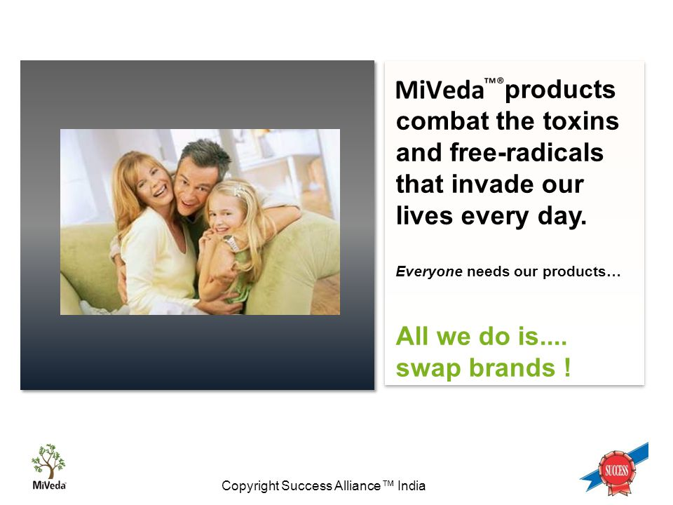 Copyright Success Alliance™ India products combat the toxins and free-radicals that invade our lives every day.