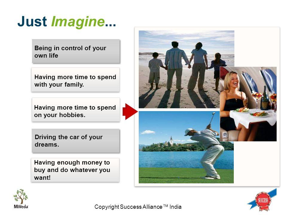 Copyright Success Alliance™ India Just Imagine...