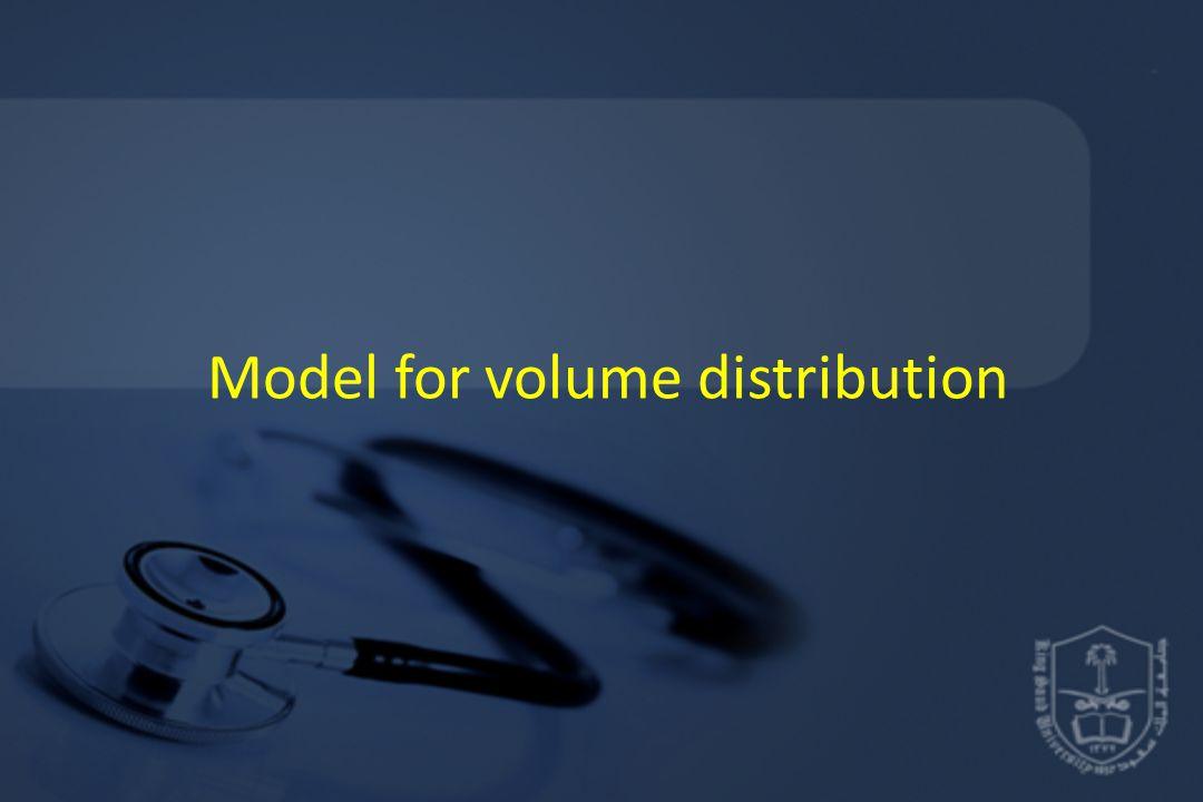 Model for volume distribution