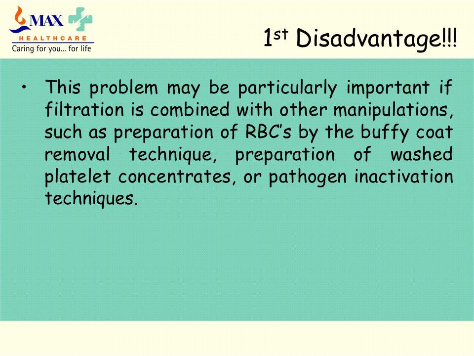 1 st Disadvantage!!.