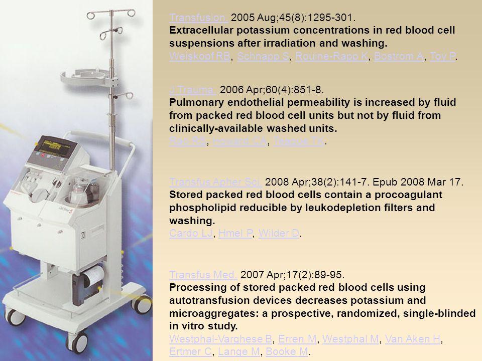 Transfusion.Transfusion. 2005 Aug;45(8):1295-301.