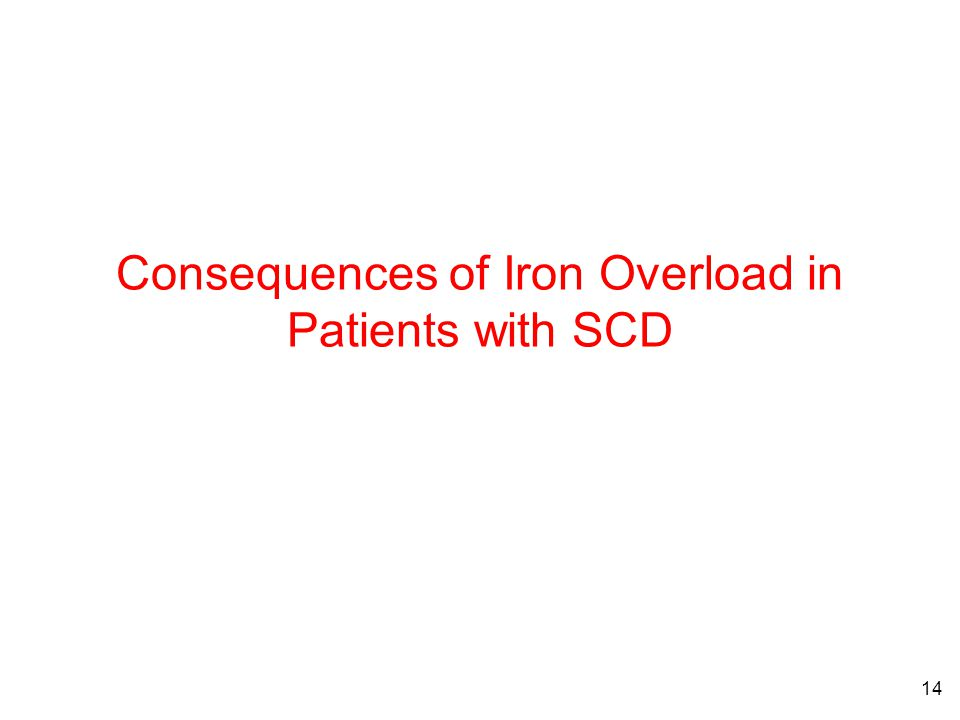 14 Consequences of Iron Overload in Patients with SCD