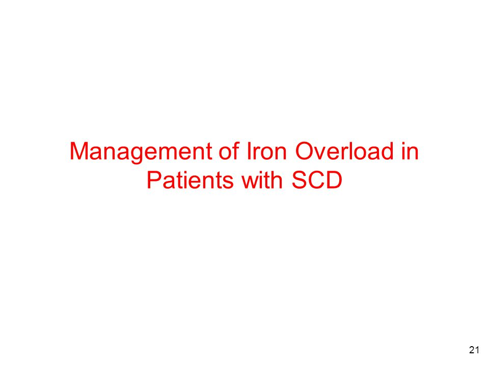 21 Management of Iron Overload in Patients with SCD