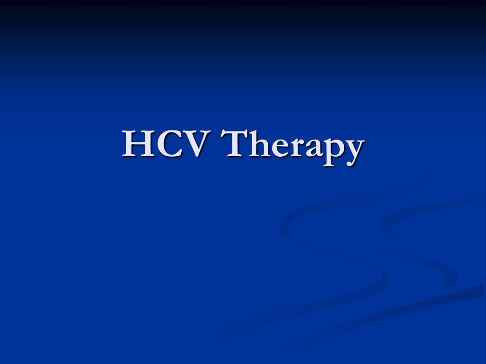 HCV Therapy