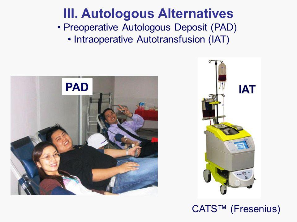 CATS™ (Fresenius) PAD IAT III.