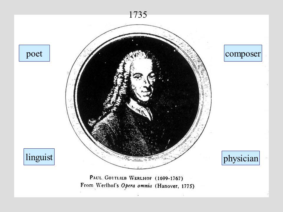 1735 linguist physician composerpoet