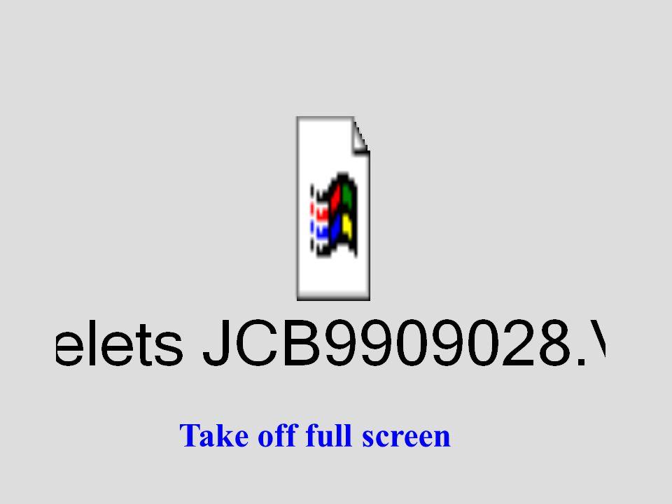 Take off full screen