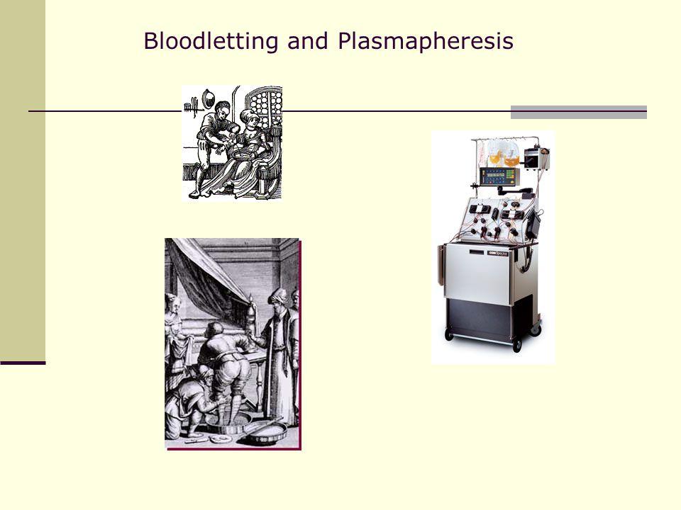 Bloodletting and Plasmapheresis
