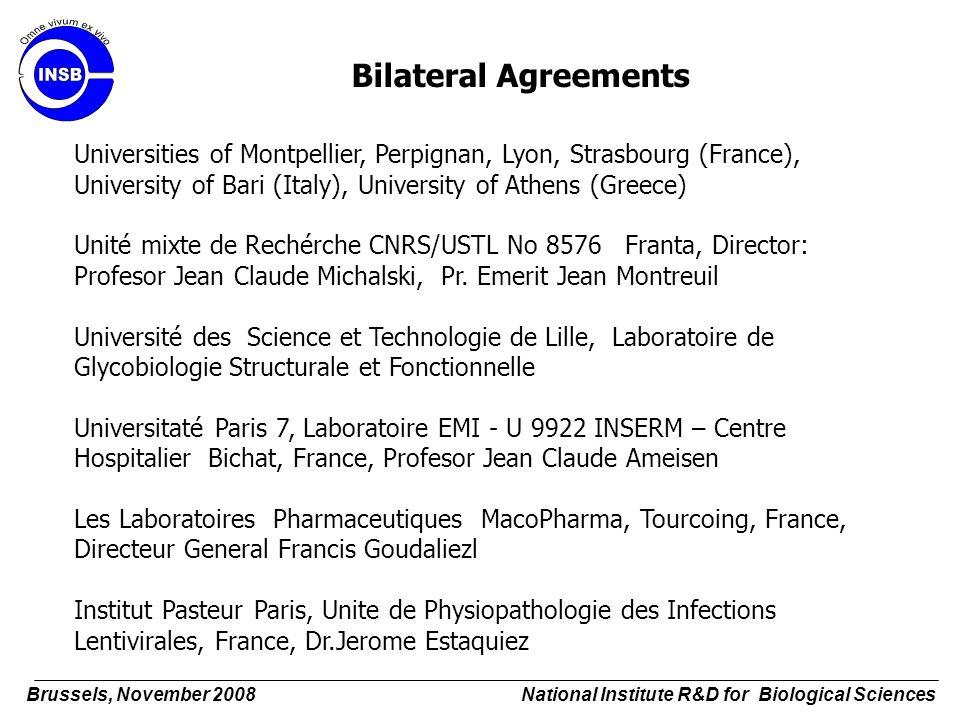 Bilateral Agreements Universities of Montpellier, Perpignan, Lyon, Strasbourg (France), University of Bari (Italy), University of Athens (Greece) Unit