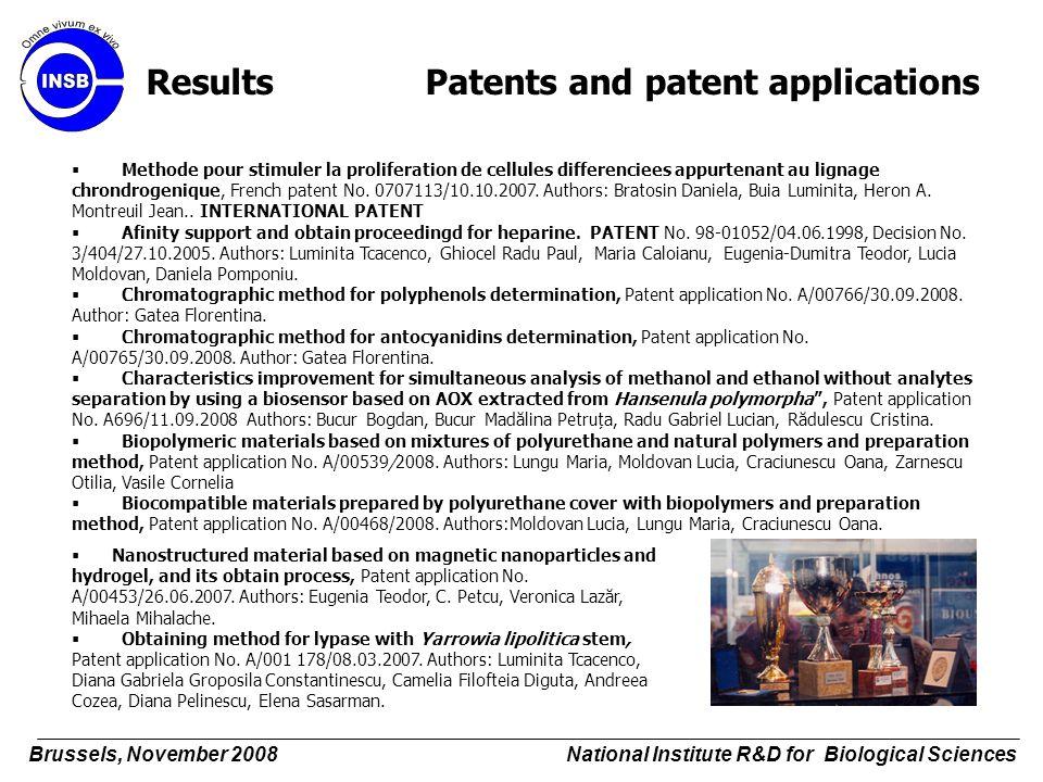  Methode pour stimuler la proliferation de cellules differenciees appurtenant au lignage chrondrogenique, French patent No. 0707113/10.10.2007. Autho