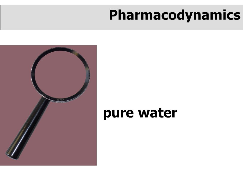 pure water Pharmacodynamics
