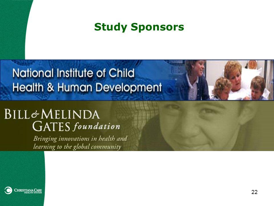 22 Study Sponsors