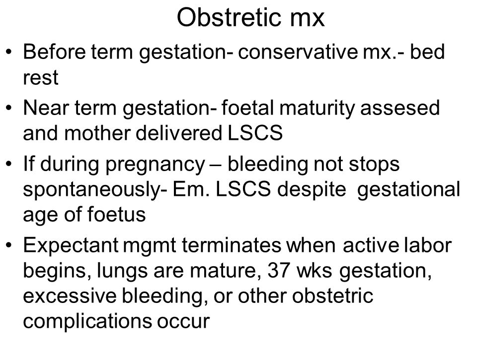 CLOT observation test 5ml maternal venous blood in clean glass T.T shaken gently, allowed to stand If clot does not form in 6 min or clot lysed within 1 hr, clotting defect probably present If clot fail to form within 30 min, fibrinogen less than 100mg/dl Sample also send for CBC, PT, PTT,Fibrinogen, FDP analysis TEG role in obstetric h,age is limited.