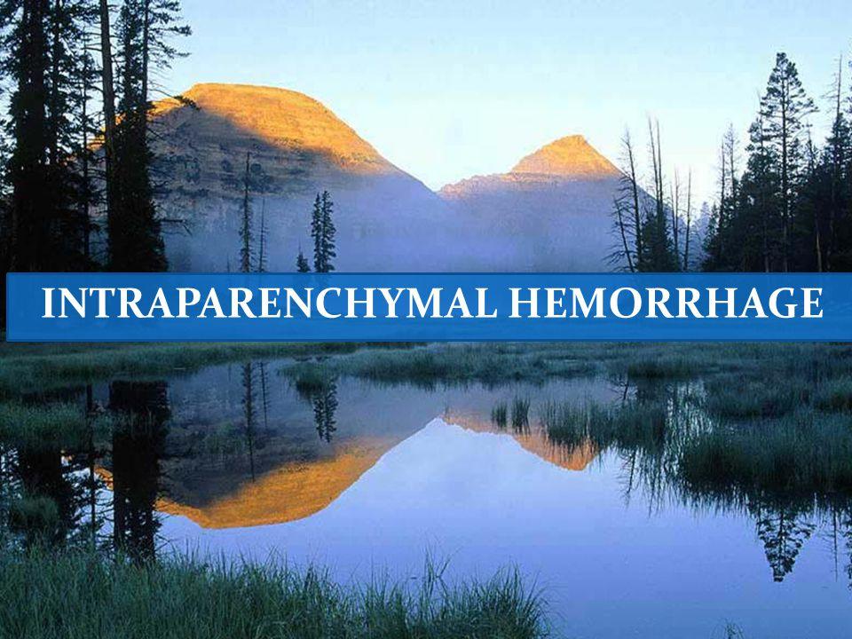 INTRAPARENCHYMAL HEMORRHAGE